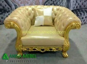 Jual Sofa Set Mewah Ukiran Single