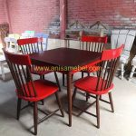 Jual Kursi Meja Makan Cafe Model Retro Merah