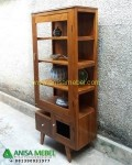 Display Cabinet Minimalis Retro