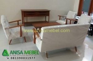 Set Sofa Tamu Retro Jati Klasik