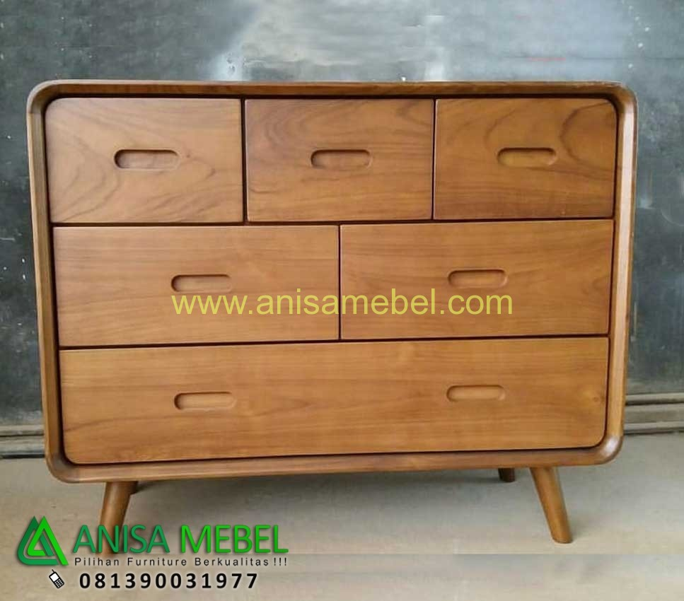Harga Jual Chest 6 Drawers Retro Jati