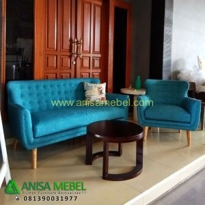 Set Sofa Tamu Jati Retro