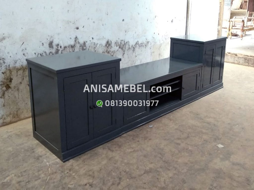 Harga Jual Rak TV Unit Minimalis Blue Glue Jati