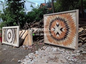 Wall Decor Kayu Jati
