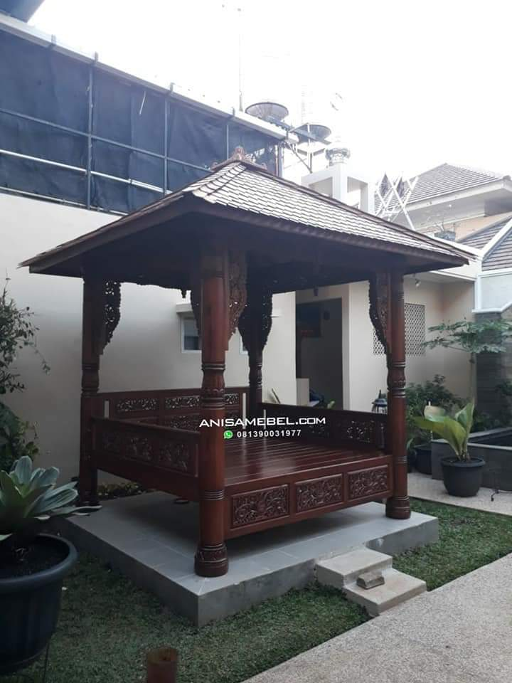 Model Gazebo Joglo Antik Kayu jati